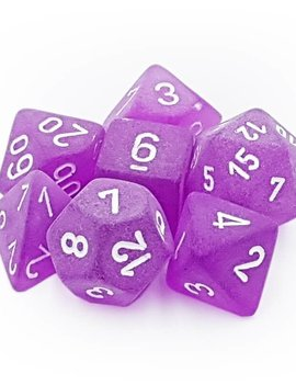 Chessex: Frosted Purple/White 7CT RPG Set