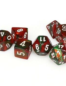 Chessex: Gemini Green-Red/White 7CT RPG Set