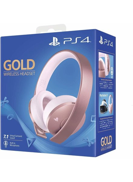 PS4 Gold Wireless Stereo Headset - Rose Gold