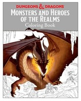 WizardsOfTheCoast Dungeons & Dragons Monsters and Heroes of the Realms Coloring Book