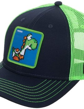 Bioworld Super Mario Yoshi Adjustable Trucker Hat