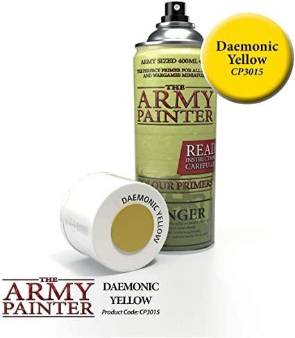 Army Painter Colour Primer - Daemonic Yellow