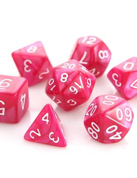 Die Hard Dice RPG SET - Rose Swirl w/ White