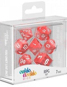 Oakie Doakie Dice - 7CT. RPG Set Marble Red