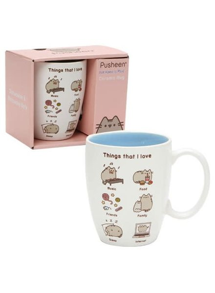 Enesco Pusheen the Cat Things I Love 12 oz. Mug