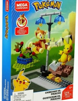 Mega Construx Pokemon: Chimchar Vs Pikachu