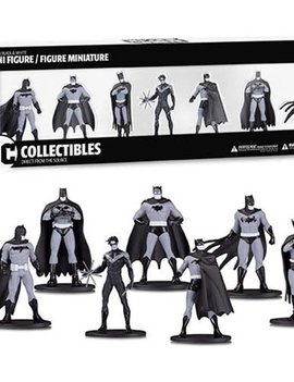 DC Collectibles Batman Black and White Mini-Figure 7-Pack Box Set #1