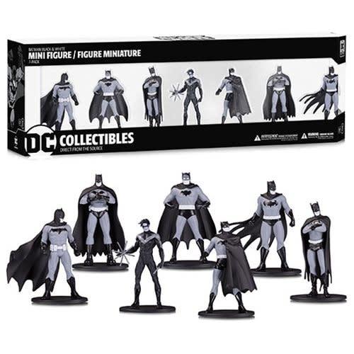 DC Collectibles Batman Black and White Mini-Figure 7-Pack Box Set #1