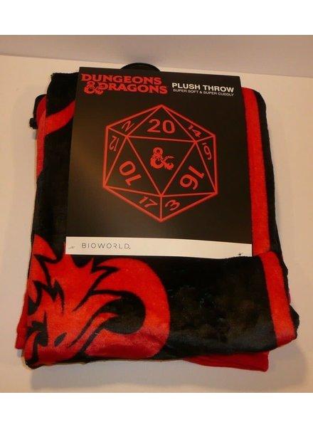 Dungeons & Dragons D20 Print Plush Throw