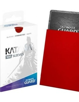Ultimate Guard UG Katana Sleeves 100Ct: Red