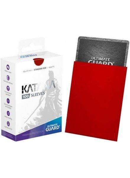 Ultimate Guard UG Katana Sleeves 100Ct: Red