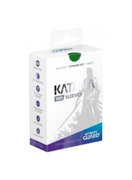 Ultimate Guard UG Katana Sleeves 100Ct: Green
