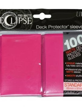 Ultra Pro UP Eclipse Sleeve Standard 100Ct: Hot Pink
