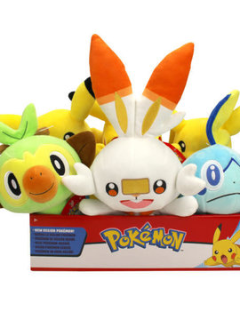 "Wicked Cool Toys TOMY Pokemon Galar Starters 8"" Plush"