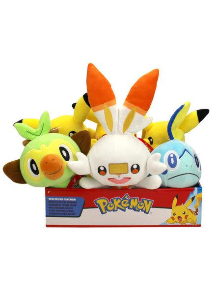 "Wicked Cool Toys TOMY Pokemon Galar Starters 8"" Plush"