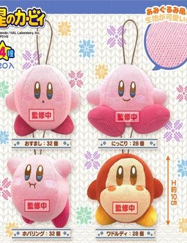 SK Japan Kirby of the Stars Amiami Plush Danglers (Knitted Style) 3.9""