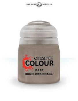 Games Workshop Citadel Paint Base: Runelord Brass (12ML)