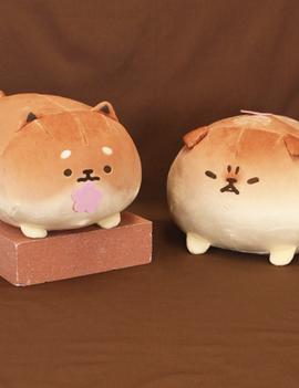 """Max Limited Yeast Ken Bread Dog Sakura BIG Mochi Plush 12.6"""""""