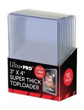 "Ultra Pro 3"" X 4"" Super Thick 120PT Toploader 10ct."