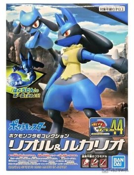 BANDAI Pokemon Riolu and Lucario Model Kit