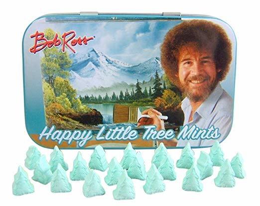 Boston America Bob Ross Happy Little Tree Mints