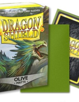 Arcane Tinmen Dragon Shield Matte 100Ct: Olive