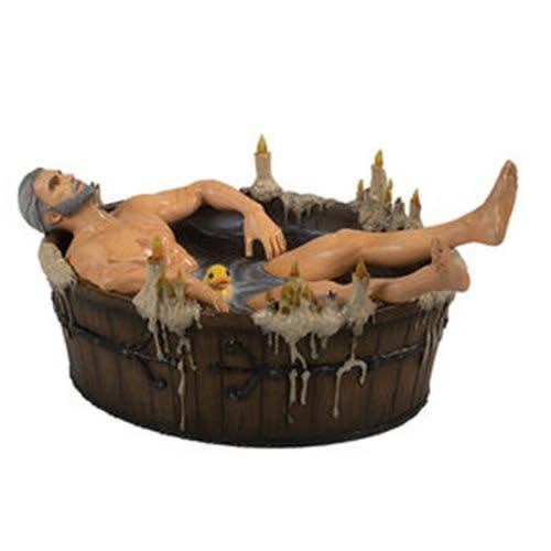 The Witcher 3 Wild Hunt Geralt in the Bath Statue