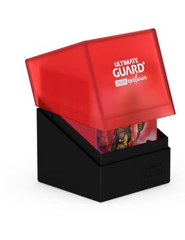 Ultimate Guard UG Boulder Deck Case 100+: 2020 Exclusive Black and Red