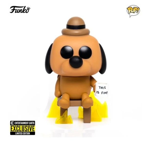 Funko POP! This is Fine Dog (Entertainment Earth Exclusive)