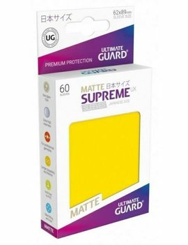 Ultimate Guard UG Small UX Matte Sleeves 60Ct: Yellow