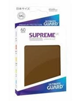 Ultimate Guard UG Small UX Matte Sleeves 60Ct: Brown