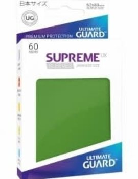 Ultimate Guard UG Small UX Sleeves 60Ct: Green
