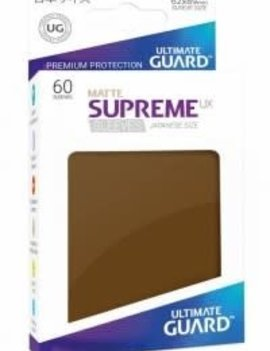 Ultimate Guard UG Small UX Sleeves 60Ct: Brown