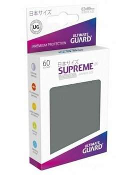 Ultimate Guard UG Small UX Sleeves 60Ct: Dark Grey