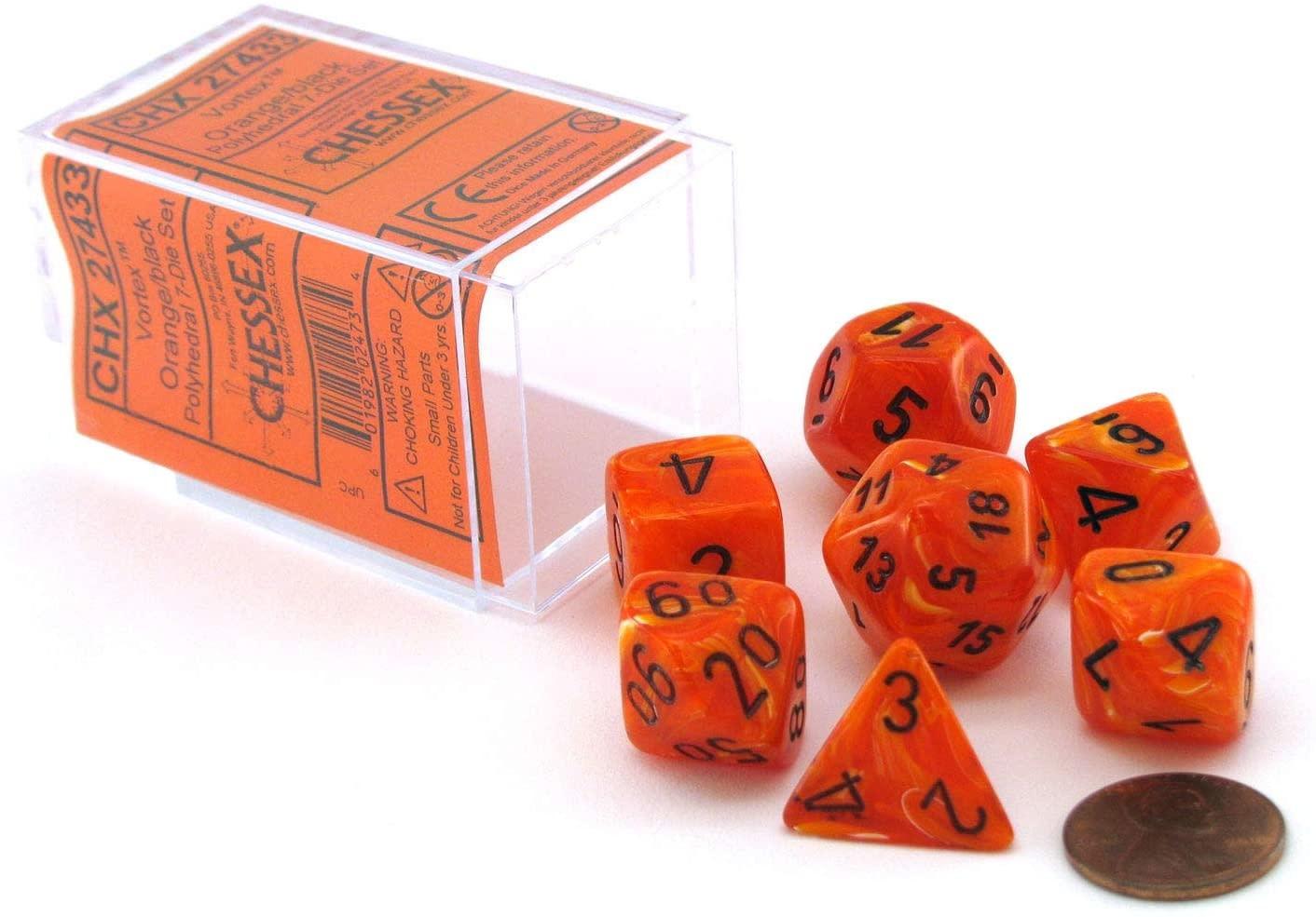 Chessex: Opaque Orange With Black Sets