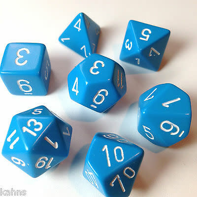 Chessex: Opaque Blue With White Sets