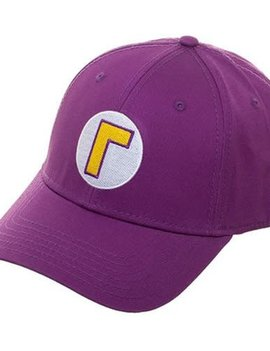 Bioworld Super Mario Bros. Waluigi Flex-Fit Hat