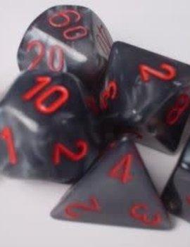 Chessex: Velvet Black/Red 7-Die Set