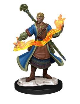 Male Half-Elf Wizard - D&D: Nolzur's Marvelous Miniatures Wave 14