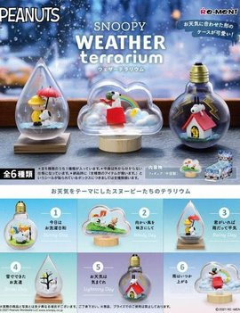 Re-Ment Peanuts Snoopy Weather Terrarium Collection Blind Box
