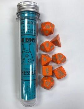 Chessex Chessex Lab Dice 7-Set: Heavy Orange / Turquoise