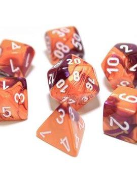 Chessex Chessex Lab Dice 7-Set: Gemini Orange / Purple / White
