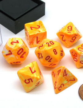 Chessex: Festive Sunburst/Red 7CT RPG Set