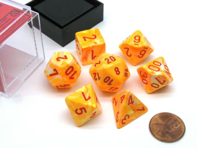 Chessex: Festive Sunburst/Red 7CT RPG Set