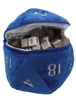 Chessex Blue Plush D20 Dice Bag - Ultra Pro