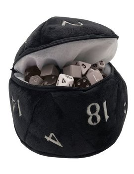 Chessex Black Plush D20 Dice Bag - Ultra Pro