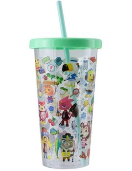 Paladone Animal Crossing 23.7 oz. Plastic Cup and Straw Travel Cup