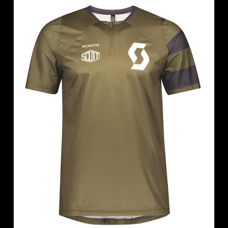 SCOTT SCOTT T-Shirt Trail Vertic Zip S/SL