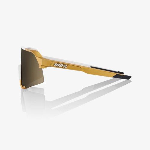 100% 100% Lunettes S3 Peter Sagan LE White Gold / Sold Gold Miroir