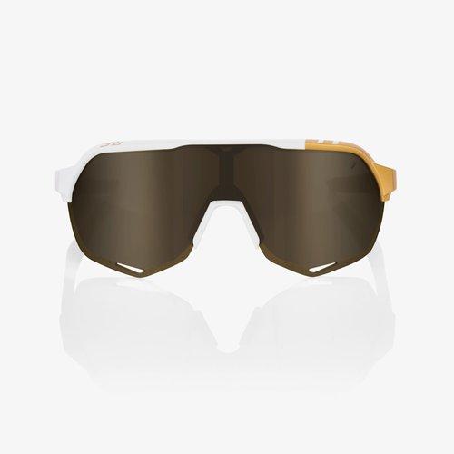 100% 100% Lunettes S2 Peter Sagan LE White Gold / Sold Gold Miroir